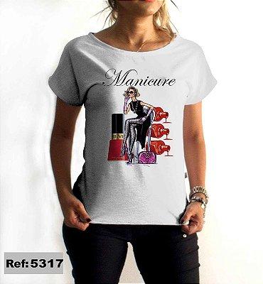T-Shirt - Regatão - Vestido, Adulto ou Infantil - Tal Mãe Tal Filha Cód. 5317 Manicure