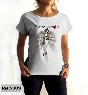 T-Shirt - Regatão - Vestido, Adulto ou Infantil - Tal Mãe Tal Filha Cód. 5309 Enfermagem