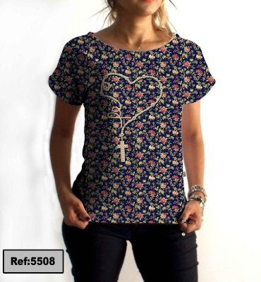 T-Shirt - Regatão - Vestido, Adulto ou Infantil - Tal Mãe Tal Filha Cód.5508
