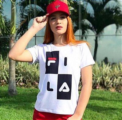T-Shirt Atacado FILA - Adulto, Infantil ou Kit Mãe e Filha