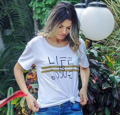T-Shirt Atacado LIFE IS GUCCY - Adulto, Infantil ou Kit Mãe e Filha