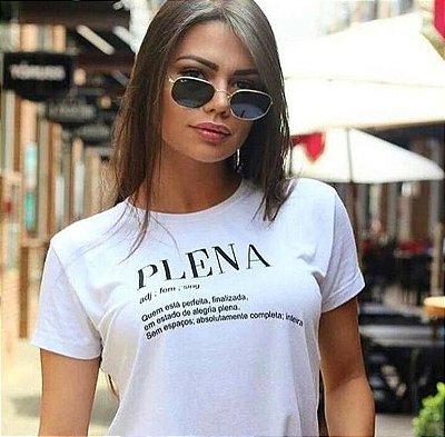 T-Shirt Atacado PLENA - Adulto, Infantil ou Kit Mãe e Filha