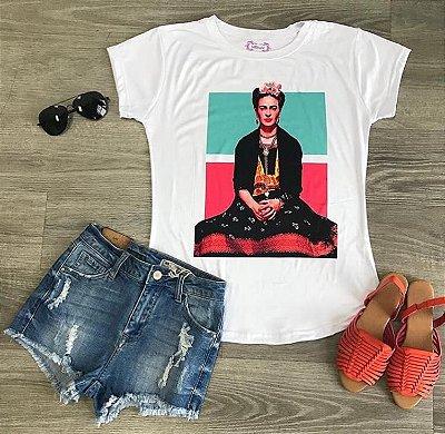 T-Shirt Atacado FRIDA KALHO - Adulta - Várias cores de tecido