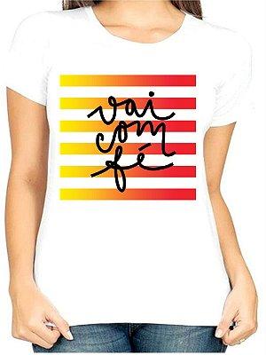 T-Shirt Atacado VAI COM FÉ - Adulta - Várias cores de tecido