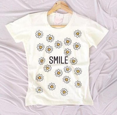 T-Shirt Atacado SMILE - Adulto - Várias cores de tecido