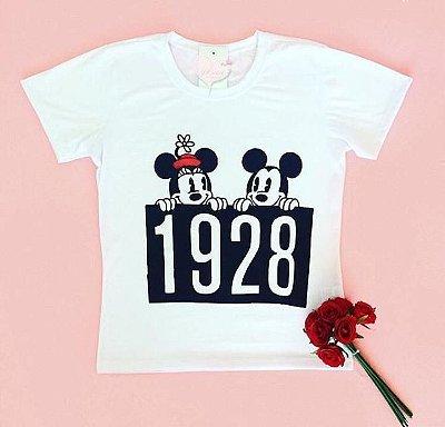 T-Shirt Atacado MICKEY MINNIE 1928 - Adulto - Várias cores de tecido