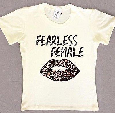 T-Shirt Atacado FEARLESS FEMALE - Adulto - Várias cores de tecido