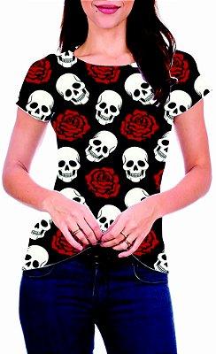 T-Shirt Atacado CAVEIRAS 2 - Adulto - Várias cores de tecido