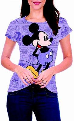 T-Shirt Atacado MICKEY MOUSE PURPLE - Adulto - Várias cores de tecido