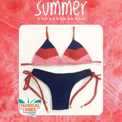 Bikini Vibes - Salmon - P, M e G