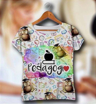 T-SHIRT e VESTIDOS Atacado e Infantil - Masculina e Feminina - Kit Mãe Pai Filha Filho - (P - GG) PEDAGOGIA 2