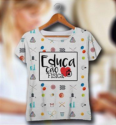 T-SHIRT e VESTIDOS Atacado e Infantil - Masculina e Feminina - Kit Mãe Pai Filha Filho - (P - GG) EDUCAÇAO FISICA  (2)