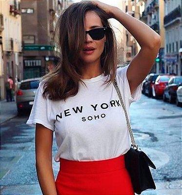 T-SHIRT e VESTIDOS Atacado e Infantil - Masculina e Feminina - Kit Mãe Pai Filha Filho - (P - GG) NEW YORK SOHO Tumblr