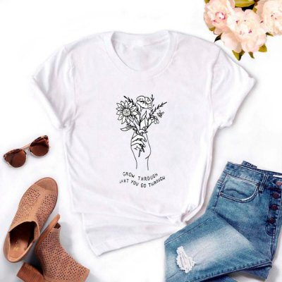 Tshirt Feminina Atacado GROW  - TUMBLR