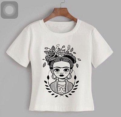 T-shirt FRIDA - Tam.Único - Pronta Entrega