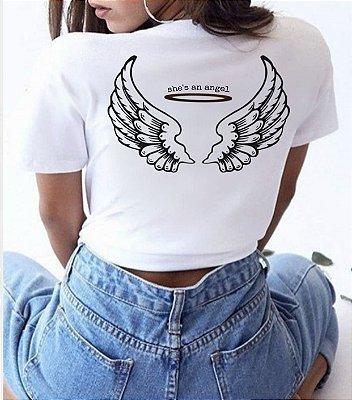 T-shirt ANGEL - Tam.Único - Pronta Entrega