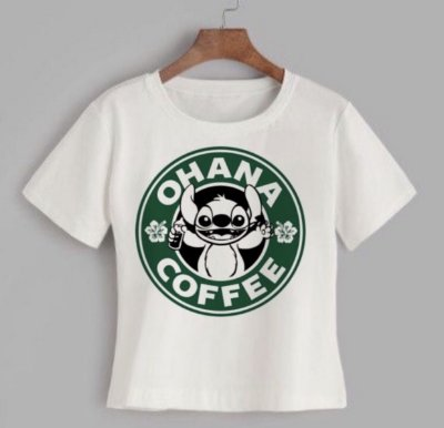 T-shirt OHANA COFFEE - Tam.Único - Pronta Entrega