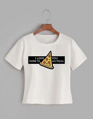 T-shirt PIZZA- Tam.Único - Pronta Entrega