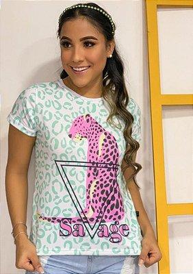 T-shirt SAVAGE  - Tam.Único - Pronta Entrega - Coleção Florescer