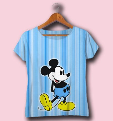 T-SHIRT ATACADO -MICKEY BLUE- CÓD.DISN08122033