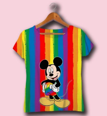 T-SHIRT ATACADO -COLORS MICKEY - CÓD. DISN081220343