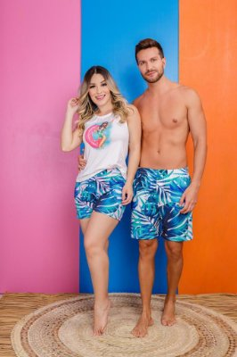 Coleção Casal - Kit pijama casal - PISCININHA