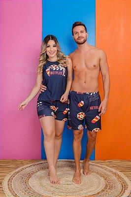 Coleção Casal - Kit pijama casal - NETFLIX