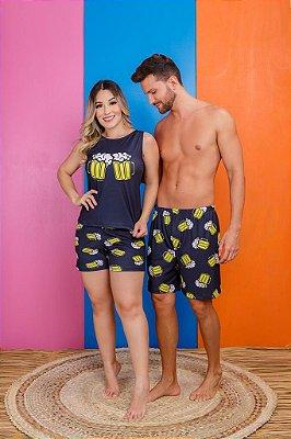 Coleção Casal - Kit pijama casal - BEER