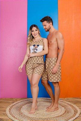 Coleção Casal - Kit pijama casal - GUCCI MICKEY