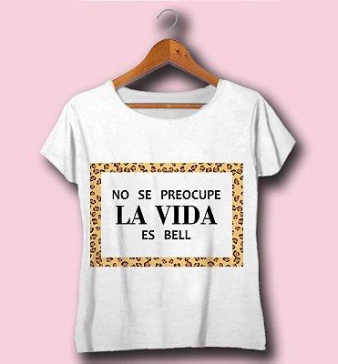 T-SHIRT ATACADO -LA VIDA- CÓD.FRA5