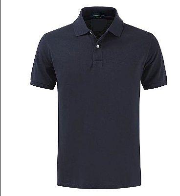 Camiseta Polo Spring Corte Regular (Veste Confortável) Manga Curta - AZUL MARINHO