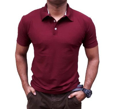 Camiseta Polo Spring Slim Fit Manga Curta - VINHO