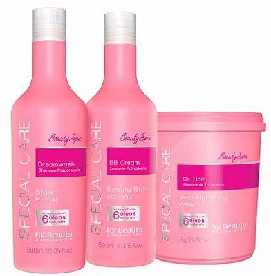 Kit De Tratamento Special Care Dr Hair Four Beauty+brinde