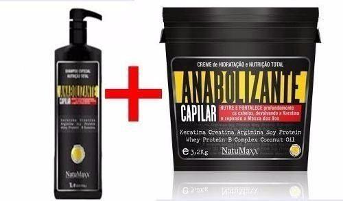 Kit Anabolizante Capilar Natumaxx( Shampoo 01 Lt+anab 3.2kg)