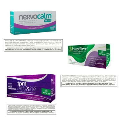 Kit Você Sempre Bem! Nervocalm WP LAB® + TPM Reduxina® + Intestilivre® - Todos com 20 comprimidos cada