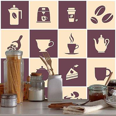 Adesivo Azulejo Coffee Break