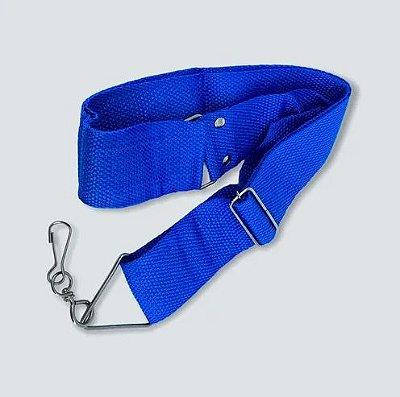 Talabarte Gope Nylon Azul 1 Gancho Para Surdo, Repinique e Caixa