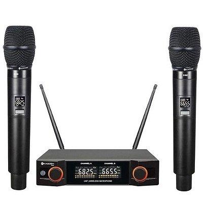 Microfone Kadosh KDSW-402M Duplo Sem Fio