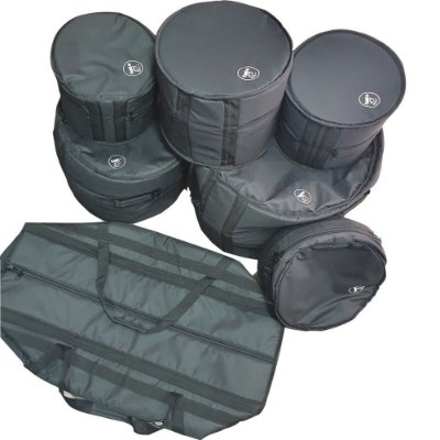 Kit Capa Bag Bateria 7 Peças Nylon 600 Acolchoadas JPG