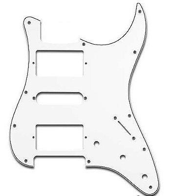 Escudo Guitarra Strato Strinberg PKG HSH Branco 2 Duplo 1 Single