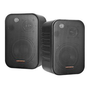 Caixa Acústica Ambiente 60W MSB460B Preta HAYONIK Par