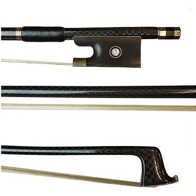 Arco Violino 4/4 Fibra Carbono Crina Animal Trançado Eagle