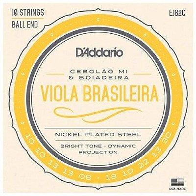 Encordoamento Viola Brasileira D'Addario EJ82C Cebolão Mi E Boiadeira