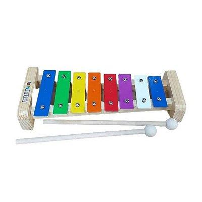 Metalofone Infantil PHX TG8-2 8 Notas Colorido