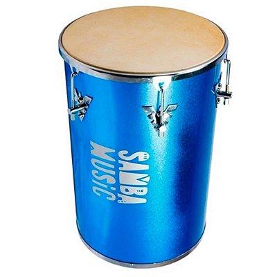 "Rebolo Phoenix Samba Music Madeira Revestida PVC 50x12"" Azul Celeste Sparkle"