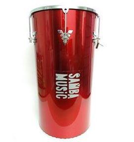 "Rebolo Phoenix Samba Music Madeira Revestida PVC 50x12"" Vermelho"