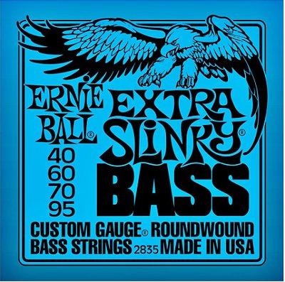 Encordoamento Baixo Ernie Ball Extra Slinky 2835 4 Cordas 040