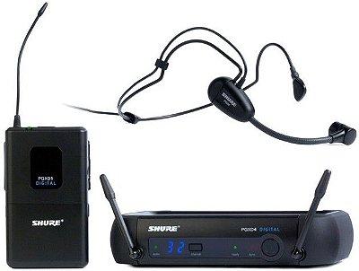 Microfone Shure Headset Digital PGXD14 PG30 - X8