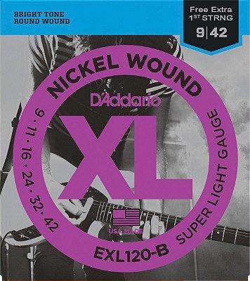 Encordoamento Guitarra D'Addario EXL120 Super Leve 9-42