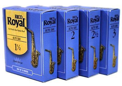 Palheta Saxofone Alto Rico Royal